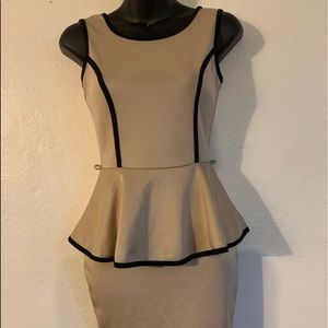 Tan pencil dress